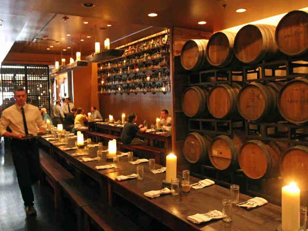 The interior and first floor dining room of the Farmers´ Cabinet, with the large beer casks on the wall, in 2011. ( Michael Bryant / Staff Photographer )