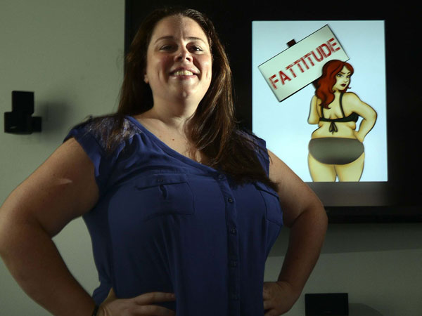 "Lindsey Averill, of Boca Raton, Fla., is working with filmmaker Viridiana Lieberman in New York to produce ""Fattitude,"" a documentary to promote acceptance of overweight people. (Mark Randall/Sun Sentinel/MCT)"