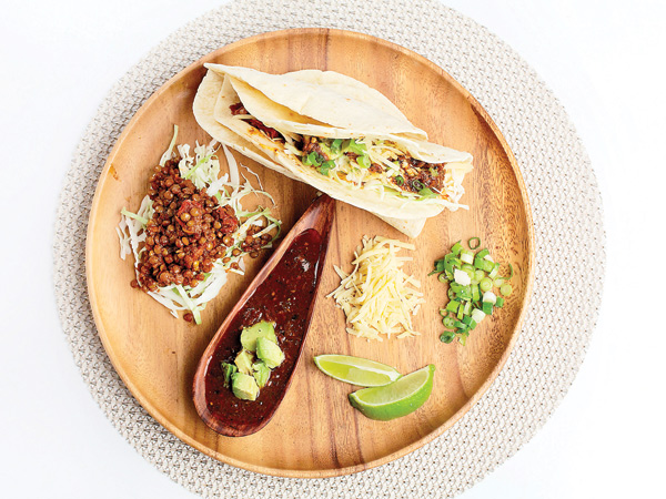 Tacos With Spicy, Smoky Lentils. (Photo for The Washington Post by Deb Lindsey)