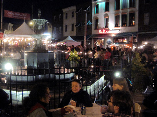 The scene at Passyunk and Tasker last Thursday when Night Market, an event organized by the Food Trust, took over, attracting thousands.