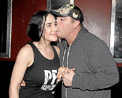 "Nadya ""Octomom"" Suleman and Damon Feldman after their ""engagement."""