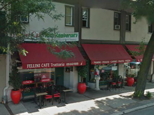 Fellini Cafe in Ardmore.
