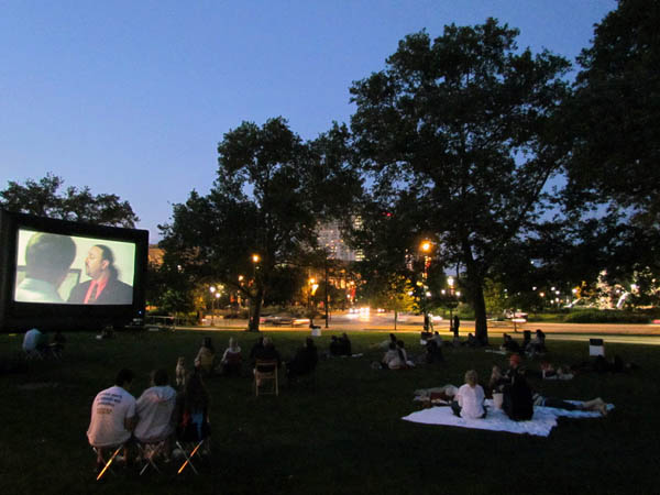 Feature and short films are screened in Aviator Park as a part of Film al Fresco, a film series highlighting local independent filmmakers.