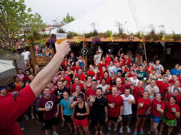 The Fishtown Beer Runners gathered on June 28, 2012, at Morgan's Pier in Philadelphia.