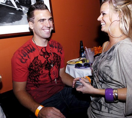 "Joe Flacco and then-girlfriend, now wife, Dana Grady dressed as The Situation and Snooki from ""Jersey Shore."" Photo: Baltimore Sun."