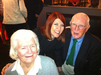 """Office"" actress Kate Flannery poses with her Tom and Joan after her show at Helium. Photo: Ronnie Polaneczky/Daily News"