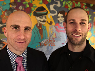 Owners Brian Sirhal (left) and chef Tim Spinner of Cantina Feliz in Fort Washington. (DAVID M WARREN / Staff Photographer)