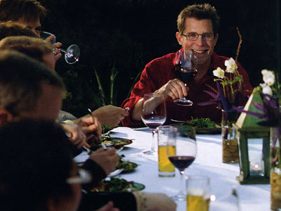 "Chef and Mexican food enthusiast Rick Bayless, in an image illustrating ""A Perfect Fall Party: Classic Mexican Mole Fiesta for 24,"" from his newest cookbook."