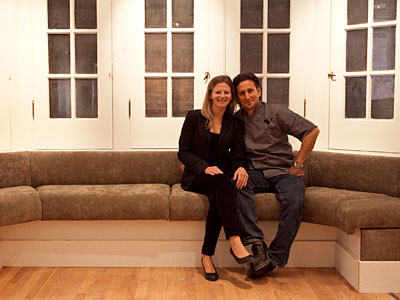 Kate Jacoby (left) and Rich Landau are the married co-owners of Vedge restaurant. (HILLARY PETROZZIELLO / Staff Photographer)