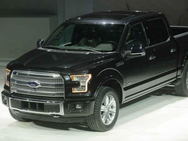 The 2015 Ford F-150 is displayed during the 2014  North American International Auto Show in Detroit, on Monday, Jan. 13, 2014. (Ryan Garza/Detroit Free Press/MCT)