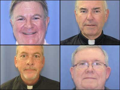 Shown: Rev. Edward Avery, top left; Rev. Charles Engelhardt, top right; Rev. James Brennan, bottom left; and, Monsignor William Lynn, bottom right. Source: Philadelphia District Attorney´s Office.