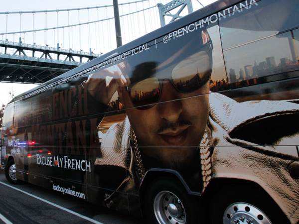 French Montana´s tour bus. (Alejandro A. Alvarez / Staff Photographer)