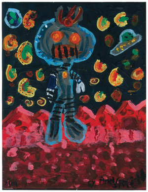 """""""Robot X-treme"""" by Andrew Joseph Smith, who is diagnosed with Asperger´s Syndrome. Andrew started drawing just before 18 months of age. (<a href=""""http://www.centerforautismresearch.com/gallery/"""">Gallery</a> at Children´s Hospital of Philadelphia´s Center for Autism Research)"""
