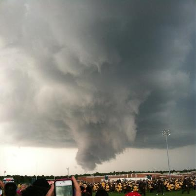 Crazy almost tornado at Absegami High School Graduation