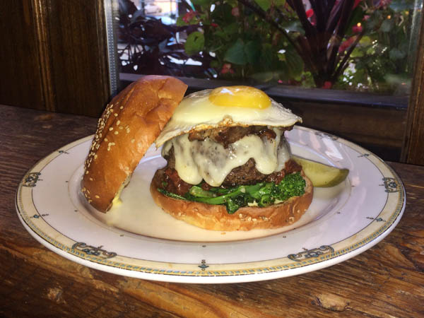 The Basilica burger at Village Whiskey (courtesy photo)
