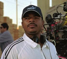 "Director F. Gary Gray on the set of Paramount´s ""The Italian Job."""