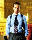 "Michael Douglas, suspendered white-collar criminal Gordon Gekko in Oliver Stone´s 1987 ""Wall Street."""