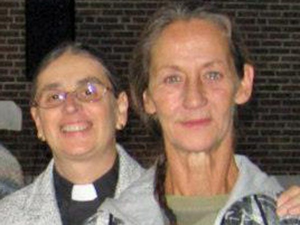 "Georgianna S. Jedrzejewski (right) was killed on Dec. 10, 2012. Known as ""The Cat Lady,""  she is pictured with Pastor Giselle Coutinho of Camden´s Bridge of Peace Community Church."