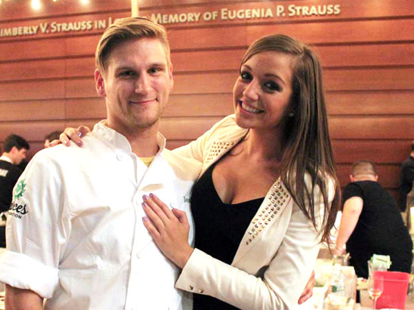 Chef Jason Cichonski with his girlfriend, Tara Kulesza.