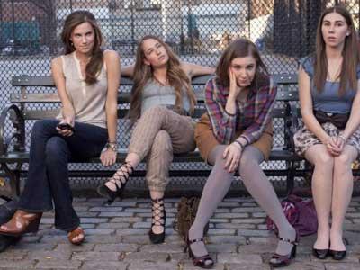 """The cast of HBO´s """"Girls"""" starring Lena Dunham."""