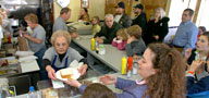 The Gladwyne Village Lunch is jamming at its 2005 reopening.