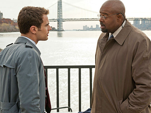 "Theo James (left) and Chi McBride in Tuesday´s ""Golden Boy"" on CBS"
