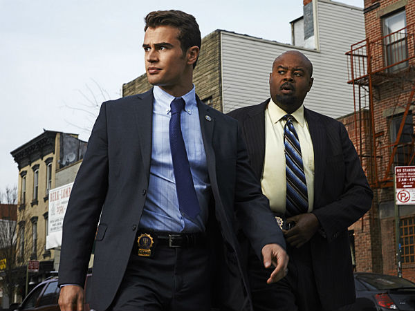 "Theo James (left) and Chi McBride play detective partners in CBS´ ""Golden Boy"""