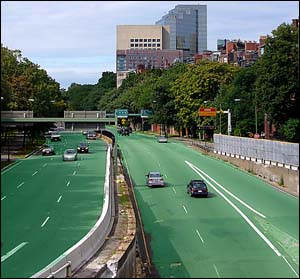 Storrow Drive as it might have looked on 04/22/1990 (artist´s conception / photo illustration)