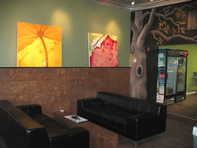 Green Eggs Cafe´s sofas.