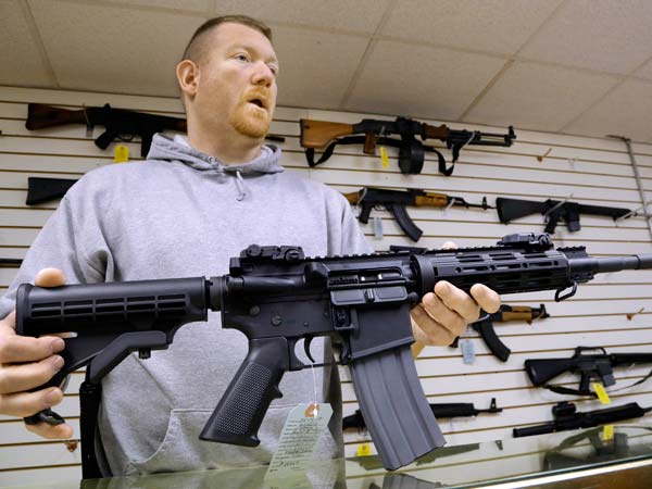 From Oregon to Mississippi, President Obama´s proposed ban on new assault weapons and large-capacity magazines struck a nerve among rural lawmen and lawmakers, many of whom vowed to ignore any restrictions and even try to stop federal officials from enforcing gun policy in their jurisdictions.  (AP Photo/Seth Perlman)