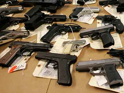 Survey research indicates that 37 percent of people 65 and older live in a home with a firearm, compared with 26 percent of those younger than 30. (AP Photo / Kiichiro Sato)