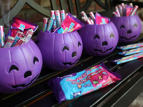 WONKA candy is seen outside of Kyle Richards´ SweeTARTS Halloween house on Tuesday, Oct. 23, 2012 in Los Angeles. (Photo by Casey Rodgers/Invision for SweeTARTS/AP Images)