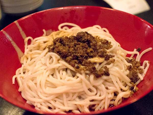 Dan dan noodles, as served at Han Dynasty.
