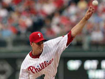Should the Phillies send J.A. Happ back to Lehigh Valley and let him start, or give him a start here at the big league level? (File photo)