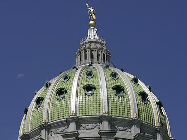 The dome of the Pennsylvania State Capitol building in Harrisburg. (Carolyn Kaster/AP)