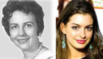 Anne Hathaway and her paternal grandmother, Jacqueline Anne Gouin.