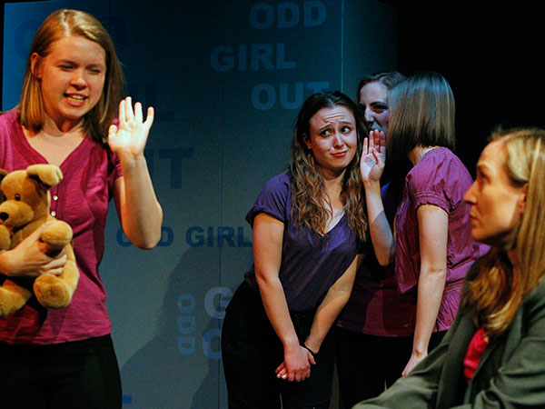 A scene from the play Odd Girl Out, written by Doug Wager, chair of Temple´s drama department. ( RON CORTES / Staff Photographer )