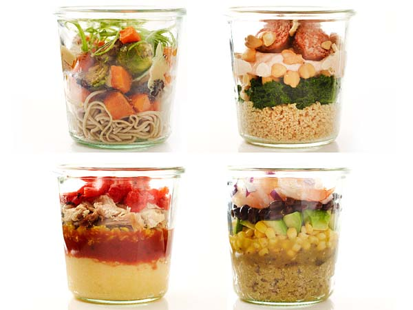Layered lunches.