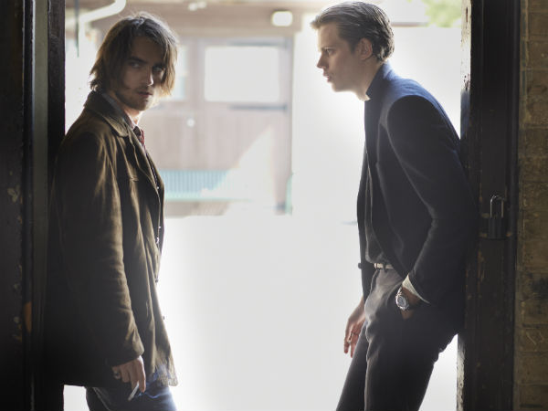 "Landon Laboiron and Bill Skarsgard in Netflix´s ""Hemlock Grove"""