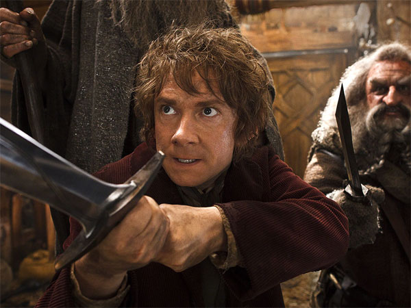 "Martin Freeman (left) returns as the hero, Bilbo, with John Callen as Oin, in the second installment of ""The Hobbit"" trilogy. MARK POKORNY"