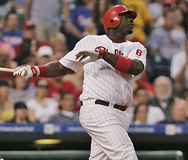 Ryan Howard: Snubbed on one NL MVP ballot.