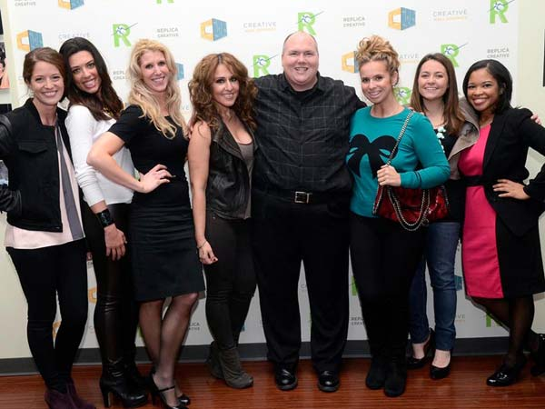 Kathleen English, Christie Honigman, Teresa Nino (co-chair of the Young Friends of the Academy Ball, Vasiliki Tsiouris, co-owner of Opa Philadelphia, HughE Dillon, Maria Papadakis, Philly.com, Marisa Magnatta, WMMR Preston & Steve Show and Kristyn Aldrich, Focused Studios. (HughE Dillon/Philly.com)