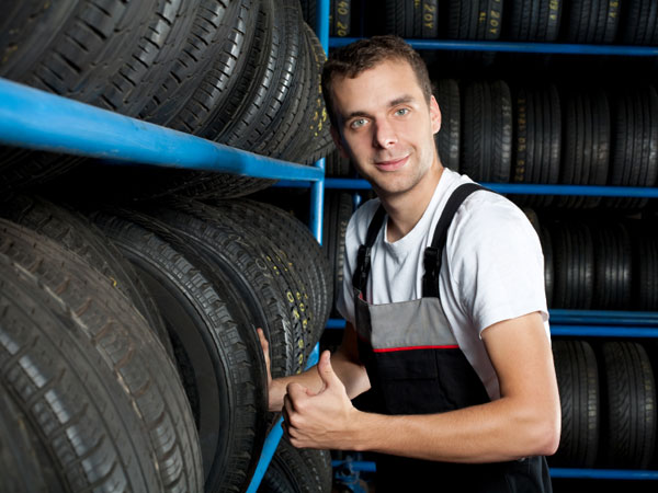 He´s happy to sell you new tires.