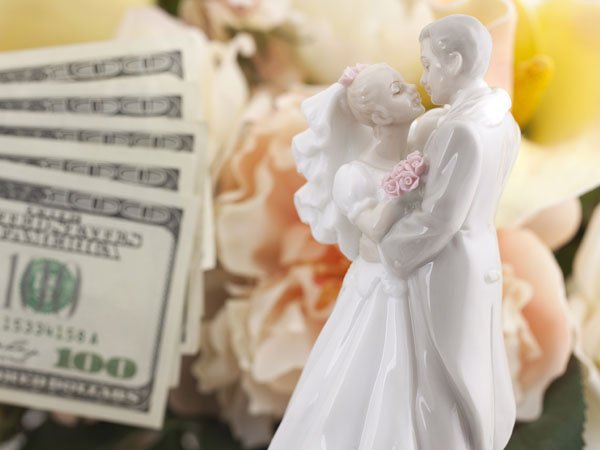 Overall, the average total wedding cost (excluding the honeymoon) across the U.S. was $29,858.