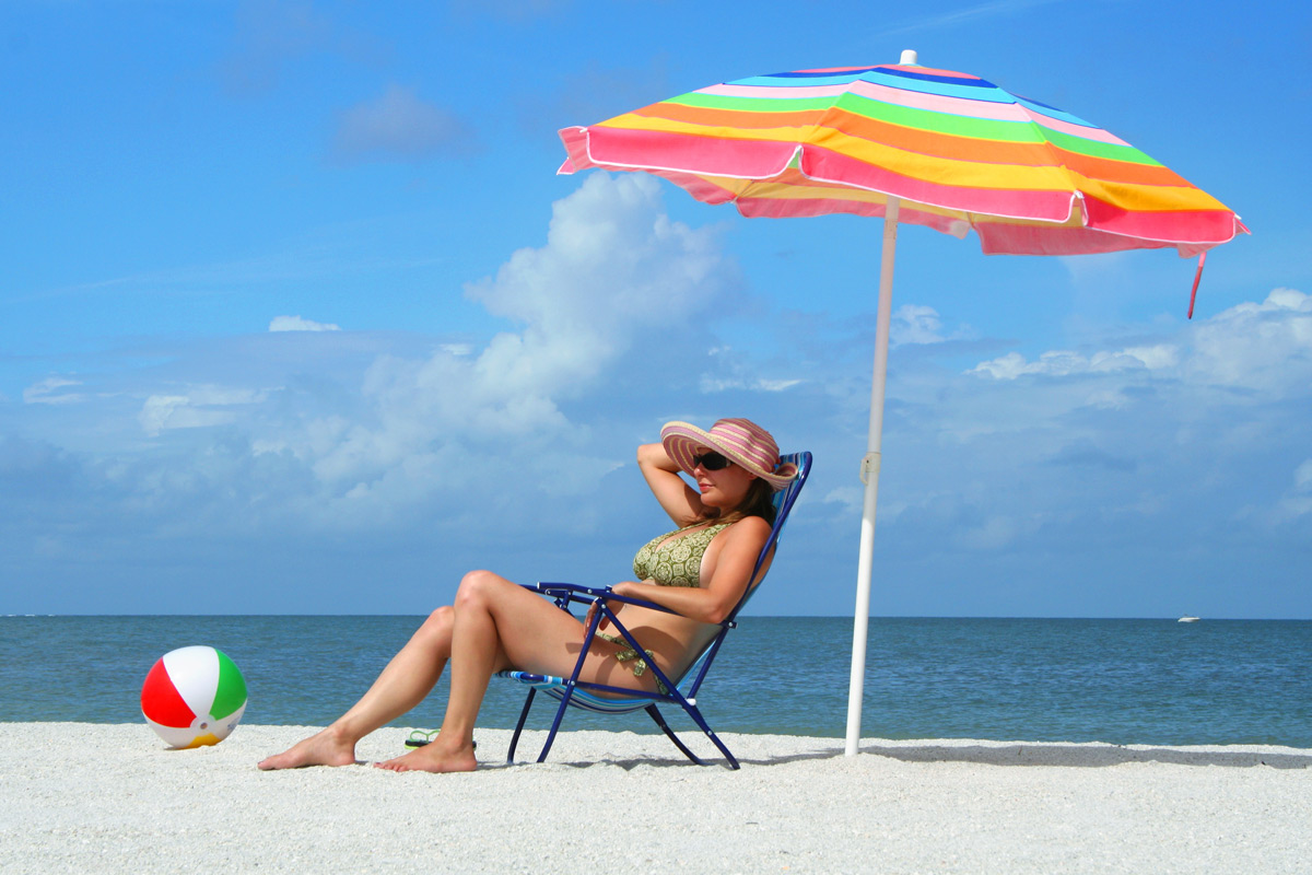 Beach umbrella vs. sunscreen. Which works better? - Philly