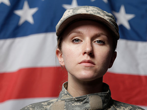 A young woman in the military considers adoption (iStock photo).