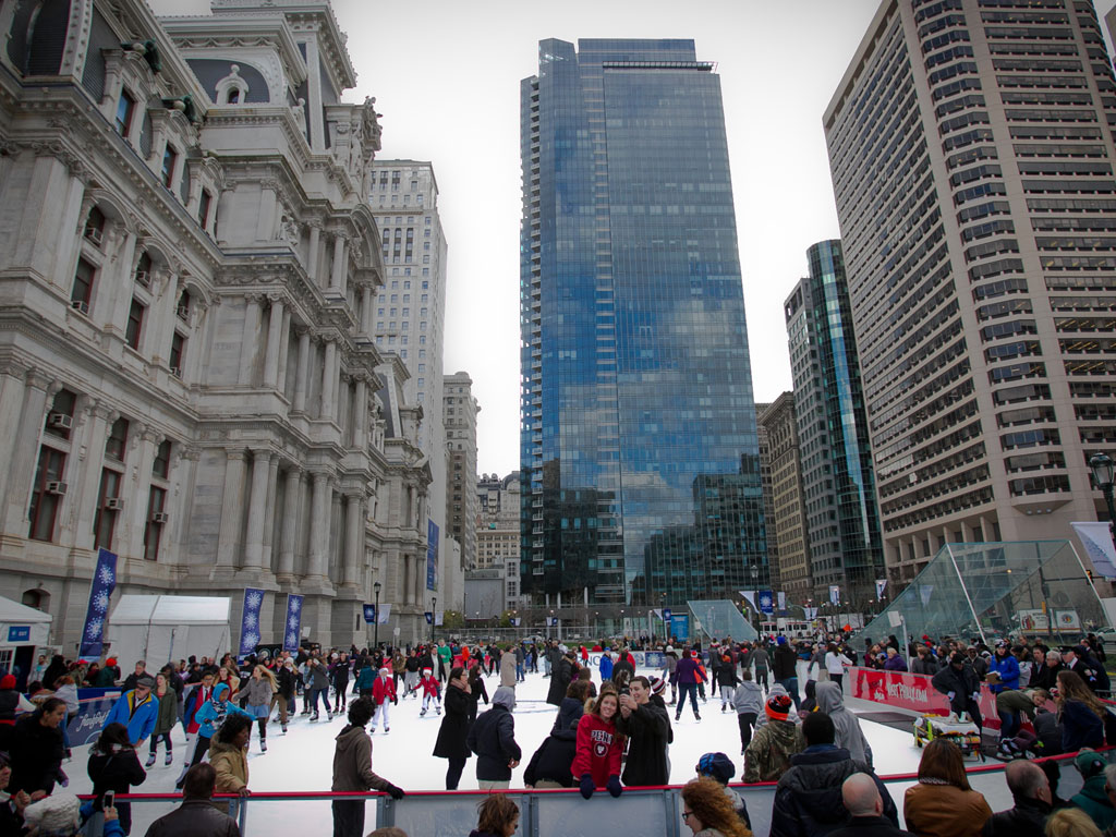 A skating rink appears in Center City - Philly