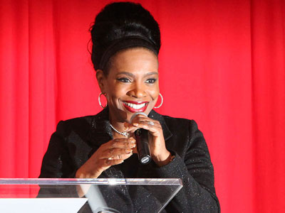 Sheryl Lee Ralph hosting the Black Male Engagement Leadership awards, which honored 10 men and offered $243,000 in grants. (Steven M. Falk / Staff Photographer)