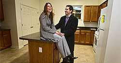 James Reilly and his wife, Maria Nasidka, in the kitchen or their future home on N. 2nd St., Camden.