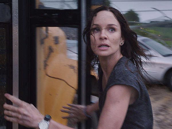 Sarah Wayne Callies chases and faces a storm. (Warner Bros. Pictures)